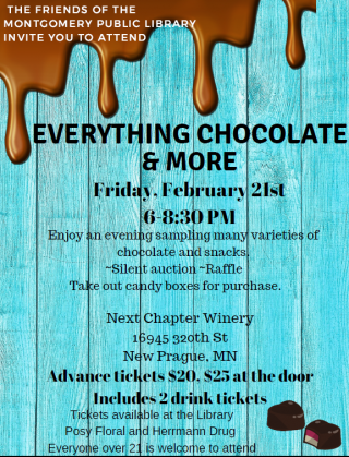Flyer promoting Everything Chocolate & More event